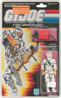 G.I. Joe. Storm Shadow is awesome. I got some face paint with this one, white and grey I think.