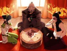 Avatar the Last Airbender - Zuko x Toph Bei Fong & Iroh Avatar Aang, Avatar The Last Airbender Art, Team Avatar, Zuko, Blade Runner, Avatar Series, Korrasami, Fire Nation, Fandoms