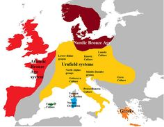 Most European men descend from a handful of Bronze Age forefathers - The Archaeology News Network European Men, European History, World History, Ancient History, European Tribes, Old Maps, Historical Maps, Bronze Age, Ancient Civilizations