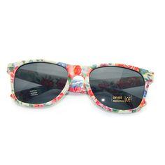 """""""Eirene"""" 80's Floral Wayfarer Sunglasses http://www.thehoneyroom.com/eirene-80s-floral-wayfarer-sunglasses/"""