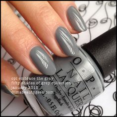 OPI FIFTY SHADES OF GREY, THE LIMITED-EDITION COLLECTION SWATCHED | Beautygeeks