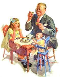 My Puzzles - Vintage Stuff - Tea with Grandpa 1933