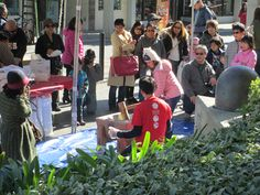 Little Tokyo Los Angeles. Mochi Pounding at Weller Court. Little Tokyo Los Angeles, Mochi