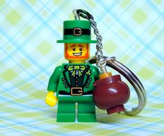 Leprechaun Key Chain  made from Series 6 LEGO r by MoLGifts, $10.00