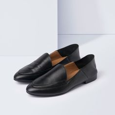 Olga Svart Nappa Slip-in Loafer