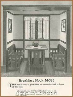Old bungalow breakfast nook. Now I'm really considering converting my pantry into a breakfast nook.