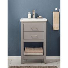 Small Vanity, Single Sink Bathroom Vanity, Vanity Sink, Bathroom Vanities, Bathroom Ideas, Bathroom Updates, Bathroom Designs, Small Bathroom, Framed Shower Door