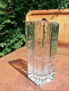 Vintage Iittala glass square pillar candle by fcollectables, €35.00