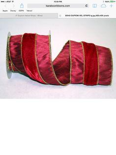 Dupioni Velvet Stripe - WE - 2 Colors Xmas Hampers, Christmas Ribbon, 2 Colours, Cuff Bracelets, Velvet, Bags, Wreaths, Design, Handbags