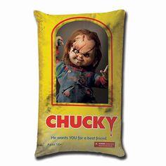 Chucky Die Mörderpuppe Plüschkissen Chucky 49 cm Horror Kissen - Hadesflamme - Merchandise - Onlineshop für alles was das (Fan) Herz begehrt!