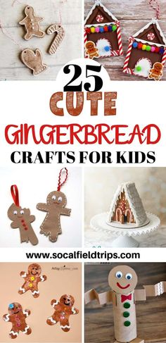 Check out this list of 25 Cute Gingerbread Crafts For Kids! Each one of these gingerbread crafts offers something different and are ideal for all ages. Christmas Activities, Christmas Crafts For Kids, Holiday Crafts, Activities For Kids, Preschool Christmas, Christmas Desserts, Gingerbread Ornaments, Christmas Gingerbread, Gingerbread Cookies