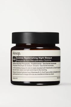Aesop's 'Sublime Replenishing Night Masque' brings meaning to the phrase 'beauty sleep'. Enriched with vitamins B, C, E and F, this rich, creamy formula restores moisture in dehydrated complexions. Made with antioxidant-rich Sodium Ascorbyl Phosphate and rejuvenating Frankincense, it's perfect for air conditioning and drier climes. Redness is noticeably reduced and skin looks brighter when you wake the next morning. - Suitable for all skin types Hair Essentials, Skin Food, Aesop, Loving Your Body, Moisturizer, How To Apply, Skin Care, Night, Conditioning
