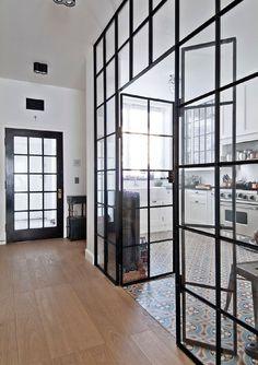 - Vitrage et verrières - La touche d'Agathe - Factory window, black metal glass, verrière, room divider, séparation, verre