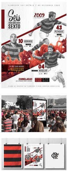Poster homenageando os seis anos do hexacampeonato brasileiro do C.R. Flamengo