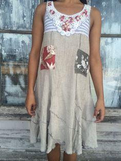 Amalia dress-small medium artsy-Eco clothing-upcycled