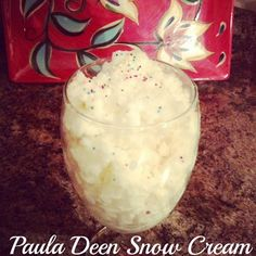 (Paula Deen) Snow Cream Recipe 8 cups clean snow, 1 14 0z can sweeten condensed milk and a tsp vanilla snow cream recipe, cleanses, cups, vanilla extract, condens milk, healthi food, condensed milk, paula deen, tsp vanilla