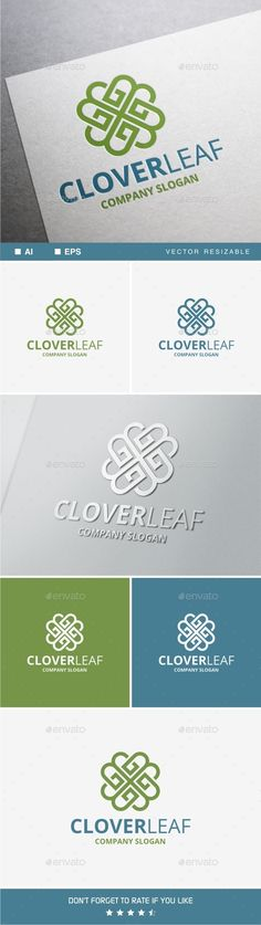 Clover Leaf - Symbols Logo Templates