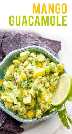 Mango Guacamole Recipe Mango Guacamole is a sweet and fruity twist on the traditional party dip. Pair it with your favorite chips and it's the perfect appetizer/snack for game day this weekend! Back To Her Roots