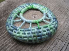 Organic Stone Sculpture Coiled Basket  Sleeping Stone