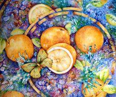China and Porcelain Painting: Orange splash by Mark Jones