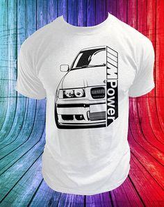 New MENS TEE BMW E36 E46 M3 M POWER BMW E90 92 93 M3 BMW FAN T-SHIRT