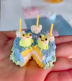 Pretty Cakes, Cute Cakes, Baking Recipes, Cake Recipes, Frog Cakes, Cute Birthday Cakes, Aesthetic Food, Rainbow Aesthetic, Cute Desserts