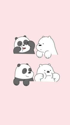 Find Your Favorite Cartoon Here Cute Panda Wallpaper, Cartoon Wallpaper Iphone, Disney Phone Wallpaper, Bear Wallpaper, Kawaii Wallpaper, We Bare Bears Wallpapers, Panda Wallpapers, Cute Cartoon Wallpapers, Cute Wallpaper Backgrounds