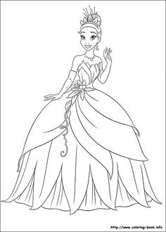 The Princess and the Frog coloring picture