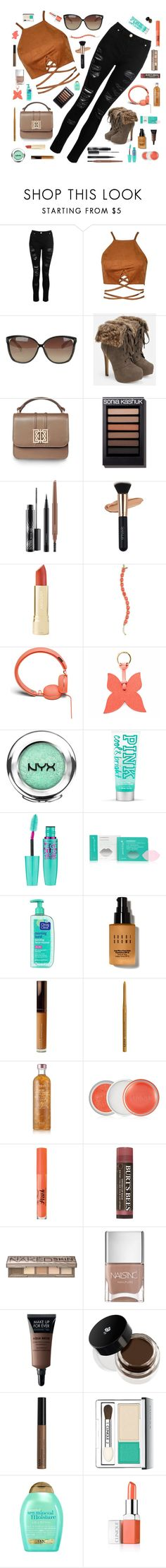 """""""Scatter"""" by cocochaneljr ❤ liked on Polyvore featuring Dorothy Perkins, Linda Farrow, JustFab, MAC Cosmetics, Kate Spade, Urbanears, La Portegna, NYX, Patchology and Clean & Clear"""