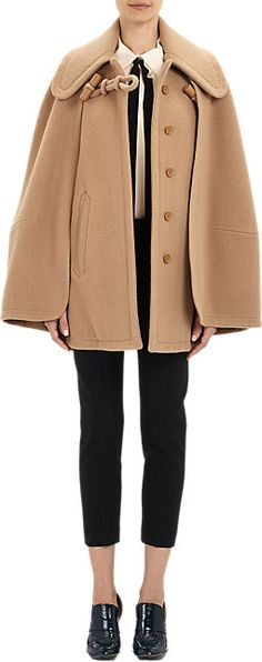 Chloé Melton Cape Coat - Short - Barneys.com