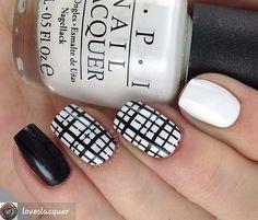 #blackandwhitenails #naildesigns #nails #nailstyle #cutenails #nailsofinsta #nailsdaily #mani #manicure #nailartdesigns #nailpics #nailpictures #nailart