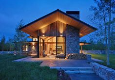 This rustic-modern mountain retreat was designed by Carney Logan Burke Architects, along with builders On Site Management, located in Jackson Hole, Wyoming.