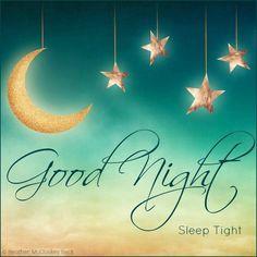 Good Night, Sleep Tight #goodnight sleep tight good night quotes moon stars