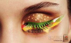 What?!  Hamburger eye shadow??