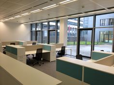 Arbeitsplätze by kühnle'waiko #office #furniture #workspace #interior #design #table #seating #acoustic