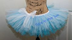 Elsa Inspired Ice Princess Aqua and Light Blue Race Running Tutu with Glitter Frozen Look; Adult Women's on Etsy, $35.00