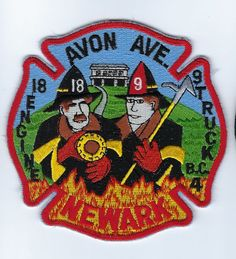 Newark NJ New Jersey Avon Ave. E18 T9 BC4 Fire Dept. patch - NEW!