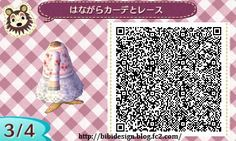 hey there my name is ari and this is my collection of cool stuff people make for animal crossing new leaf! this is mostly a resource for myself so i have a place to put all of the qr codes i find Korean Hanbok, Korean Dress, Ghost Dresses, Blue Green Dress, Animal Crossing Qr Codes Clothes, Cute Aprons, Blog Categories, Apron Dress, New Leaf