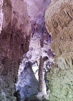 Art of Nature - Carlsbad Caverns, New Mexico, one of the favorite places of photographer Ansel Adams