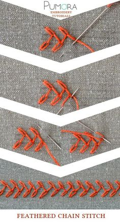 """feathered chain stitch tutorial Visit us on here ==> https://goo.gl/pjMc1x and use the code """"OFF15"""" to get discount 15%"""