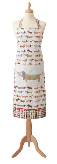 Whether you call your dachshund a hot dog, a weiner dog or a hot dog, you'll love this fun hot dog design. This generously sized apron with a large front pocket Doxie Puppies, Daschund, Dachshund Dog, Dachshunds, Chihuahuas, Dog Eating, New Puppy, Dog Training Tips, Dog Design