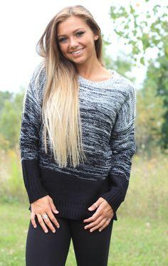<3 Stylish sweater! Cute with leggings or jeans! $39 www.poshnovi.com