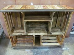 Old Wood Crate Ideas | Repurposed Wooden Crate Ideas - Crates furniture