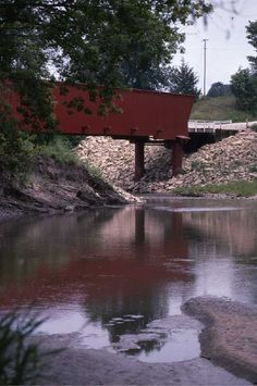 Covered Bridge - Madison County, Iowa   Oh how I would love to go there!