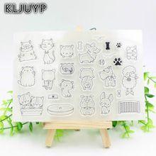 KLJUYP 1 sheet DIY Dog and Cat Transparent Design Transparent Clear Rubber Stamp Seal Paper Craft Scrapbooking Decoration(China (Mainland))
