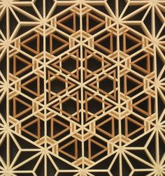 Repetitive design using the Flower of Life motif.