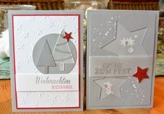 klikaklakas kreativer kram: Zweierlei Weihnachtskarten. . .