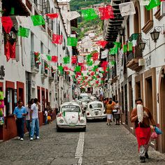 Taxco, Mexico     Such a cute town.  Love all the little streets and the fact that all the taxis are white Volkswagens!  Incredible artisans and of course beautiful silver!