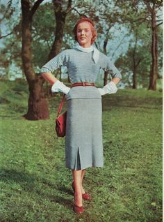 1953 Two Piece Dress Pattern by betrunkepenguin on Etsy, $3.20