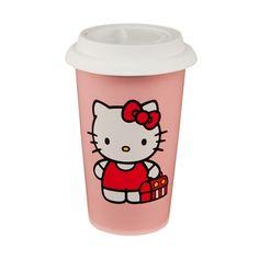 Hello Kitty Travel Mug $18...I NEED IT!!!